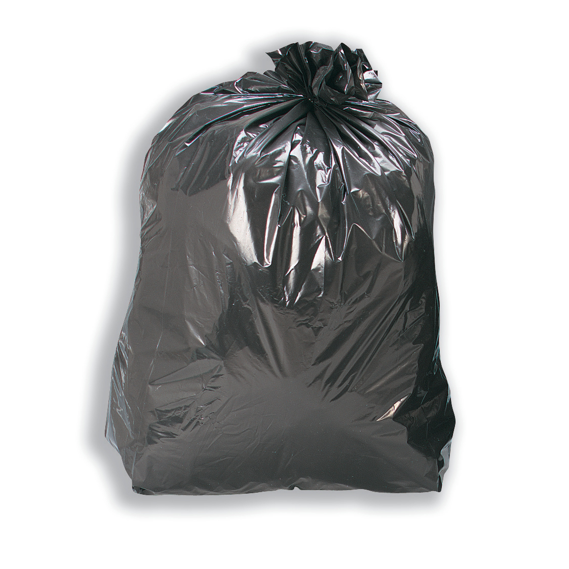 5 Star Facilities Bin Liners Medium/Heavy Duty 110 Litre Capacity W450/690xH945mm Black Pack 200