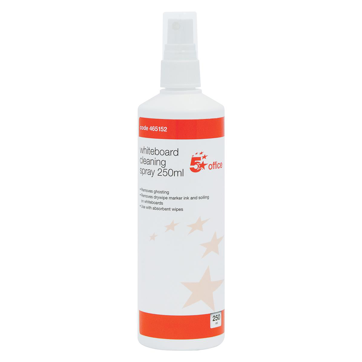5 Star Office Drywipe Cleaning Fluid Pump Spray Non-flammable 250ml