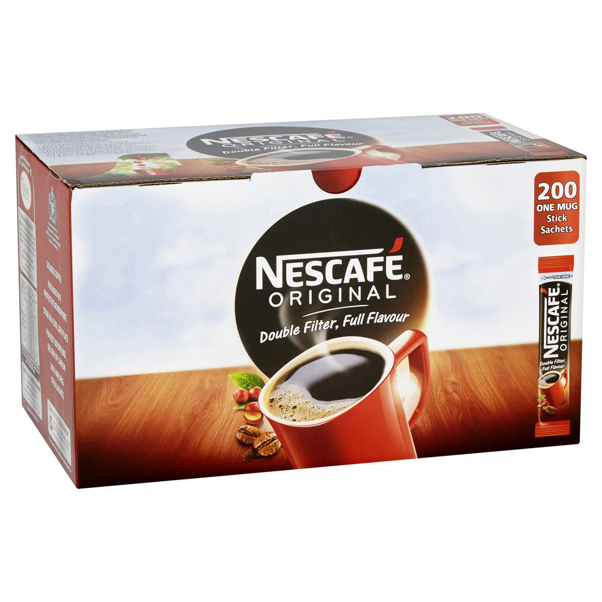 Nescafe Original Instant Coffee Granules Stick Sachets Ref 12348358 Pack 200