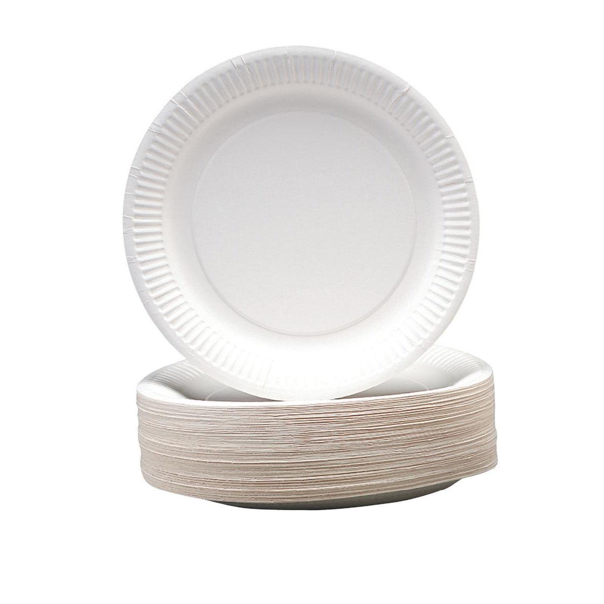 Paper Plates Disposable 230mm Pack 100