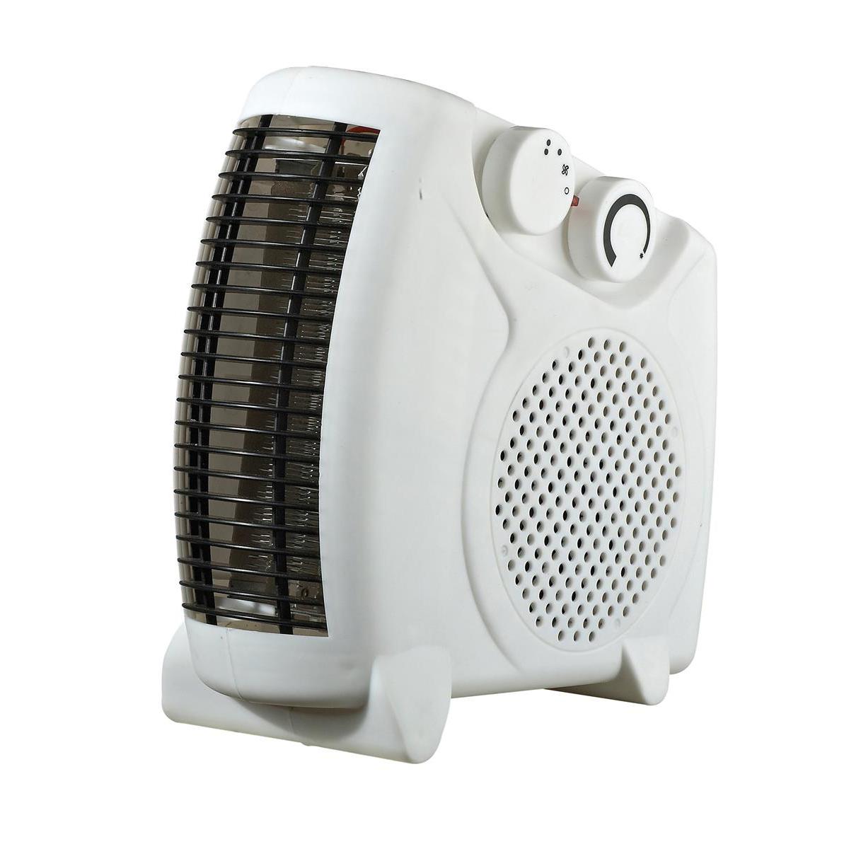 Image for Igenix 2kW Uprigh/Flat Fan Heater White Ref IG9010