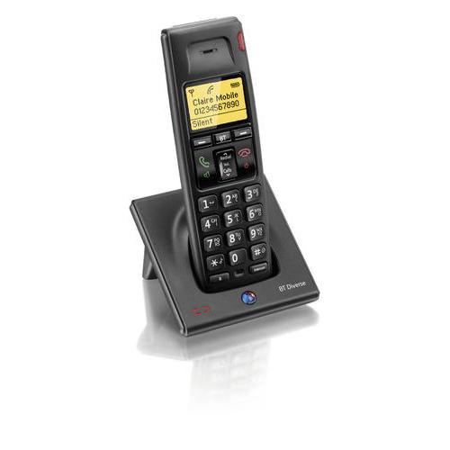 BT Diverse 7100 Plus DECT Additional Telephone Handset Cordless SMS Range 50-300m Ref 060748