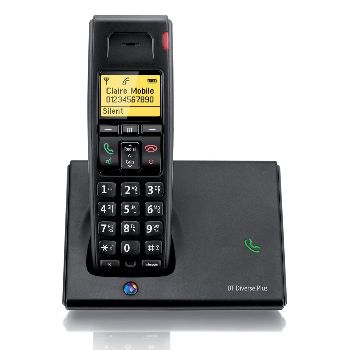 Telephones BT Diverse 7110 Plus DECT Telephone Cordless GAP SMS 100-entry Directory 10 Redials Ref 060743