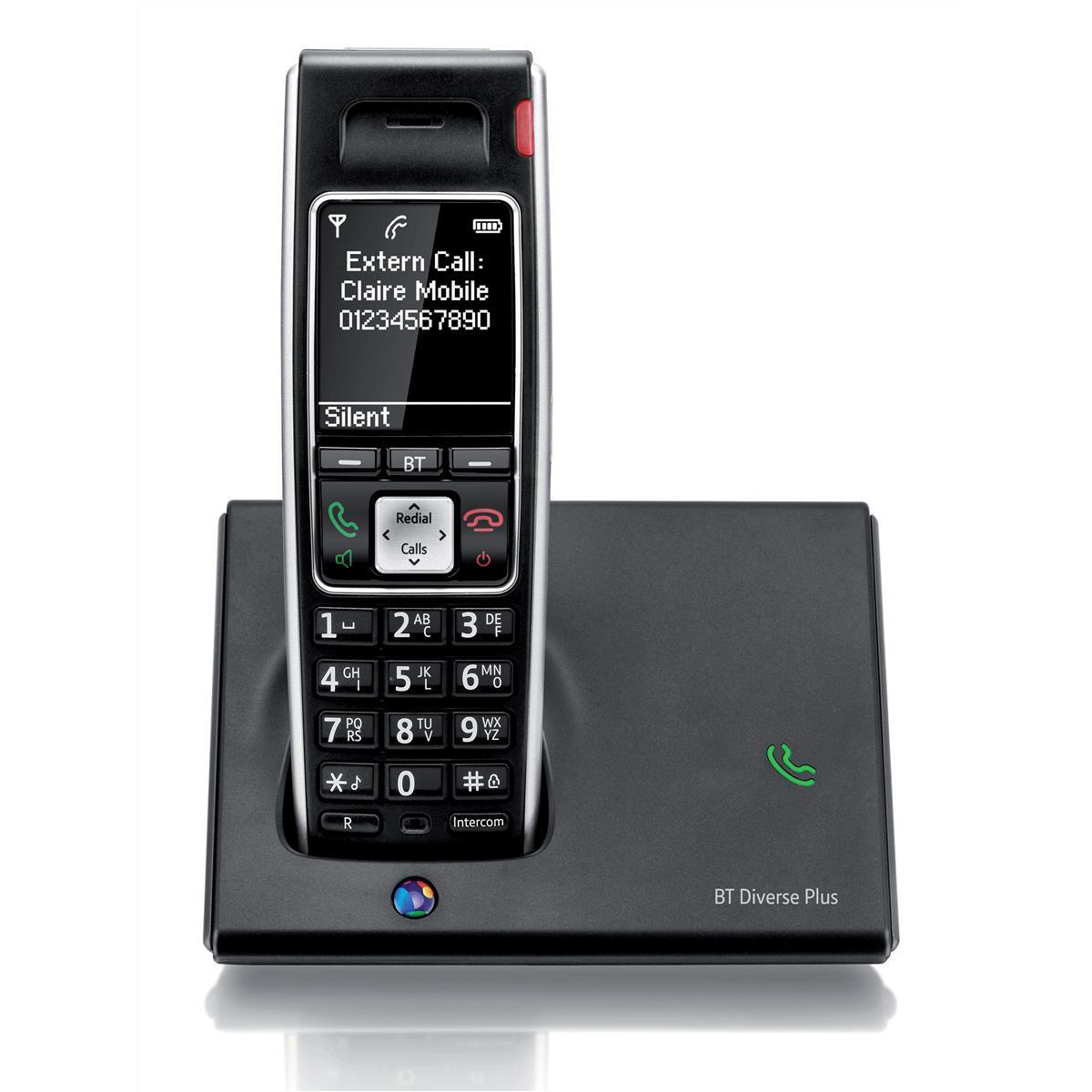 BT Diverse 7410 Plus DECT Telephone Cordless SMS 200-entry Directory 10 Calls List Ref 060745