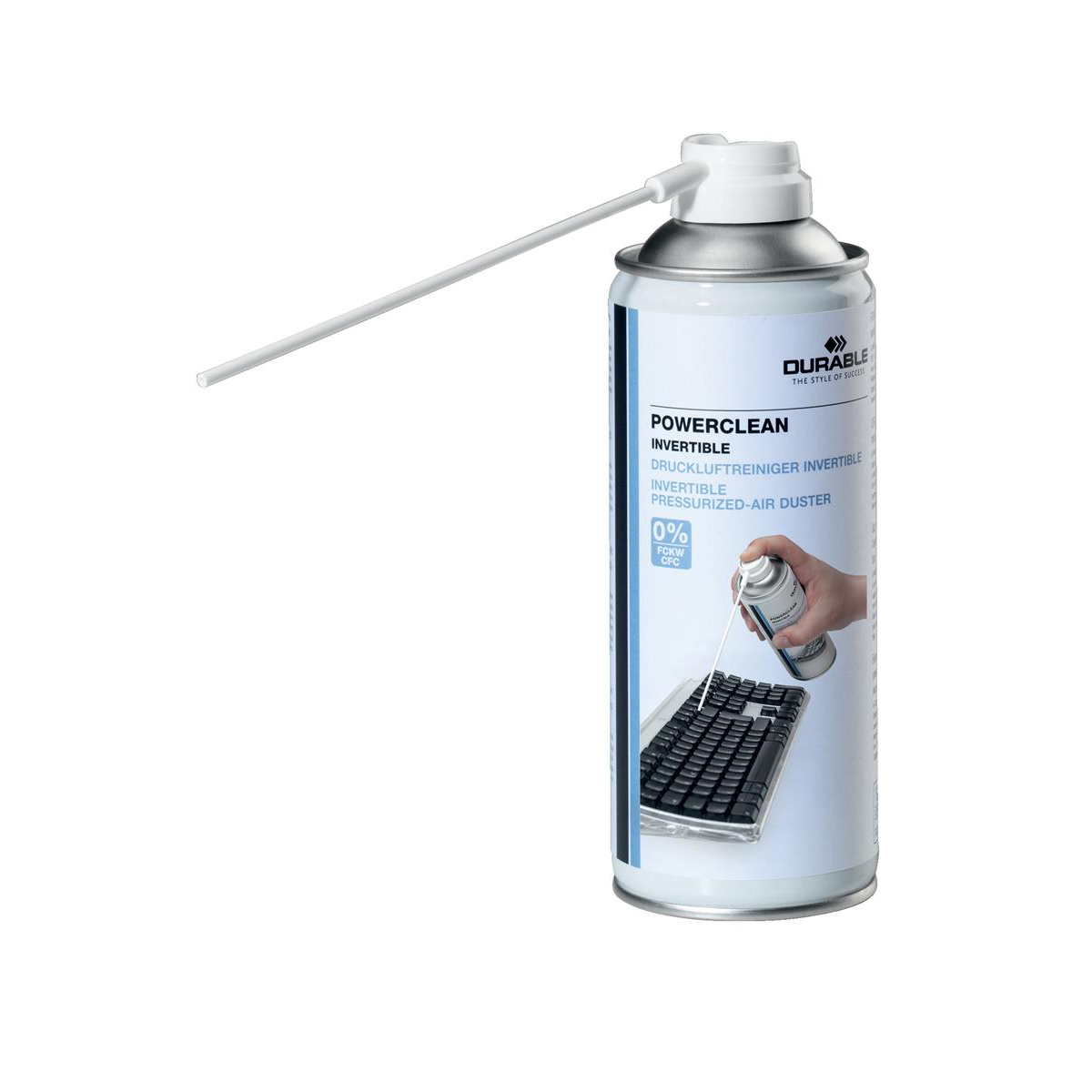 Keyboard Durable Powerclean Air Duster Gas Cleaner Flammable Inverted 200ml Ref 5797