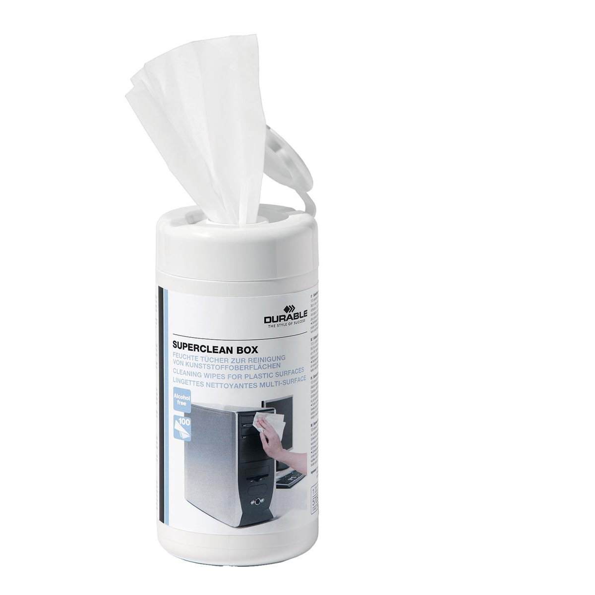 Image for Durable Superclean Tub 100 Wipes 5708