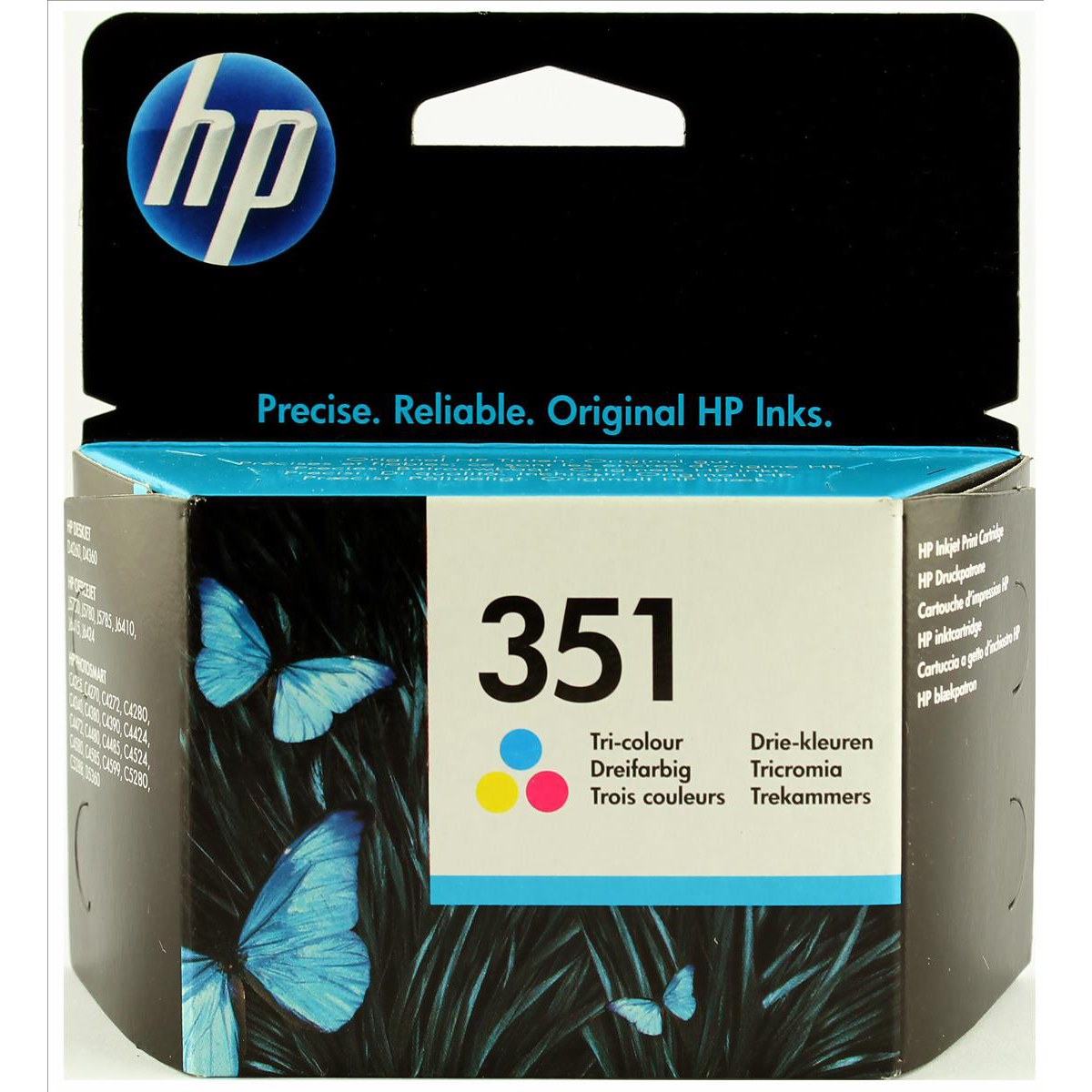 Hewlett Packard HP No.351 Inkjet Cartridge Page Life 170pp 3.5ml Tri-Colour Ref CB337EE
