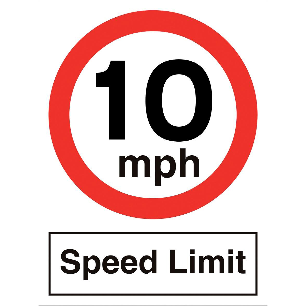 Stewart Superior 10MPH Speed Limit Sign Outdoor Use W450xH600mm Polypropylene Ref KS012PP