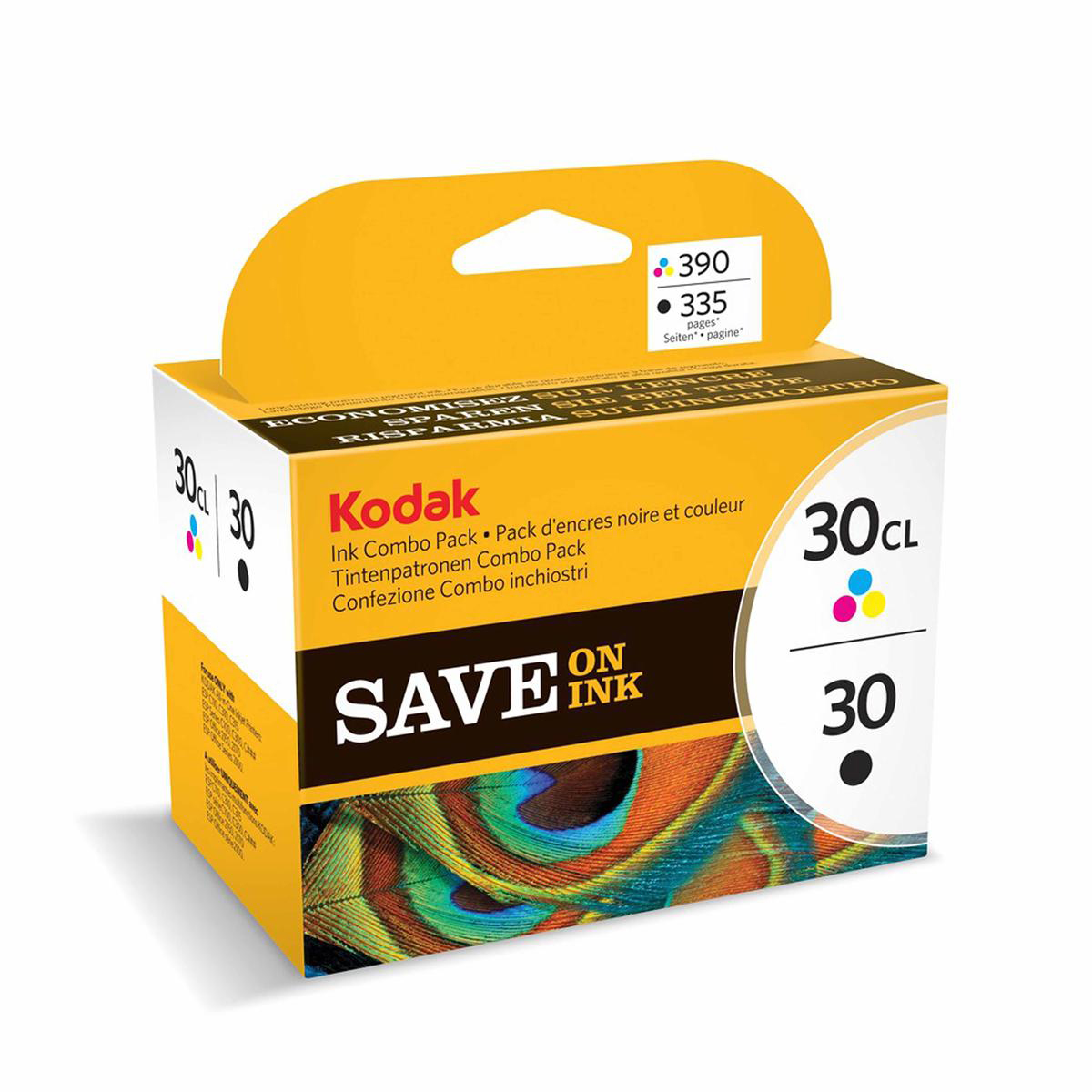 Kodak 30B & 30CL Inkjet Cartridge Page Life 335pp Black/275pp Tri-Colour Ref 9039745 Pack 2