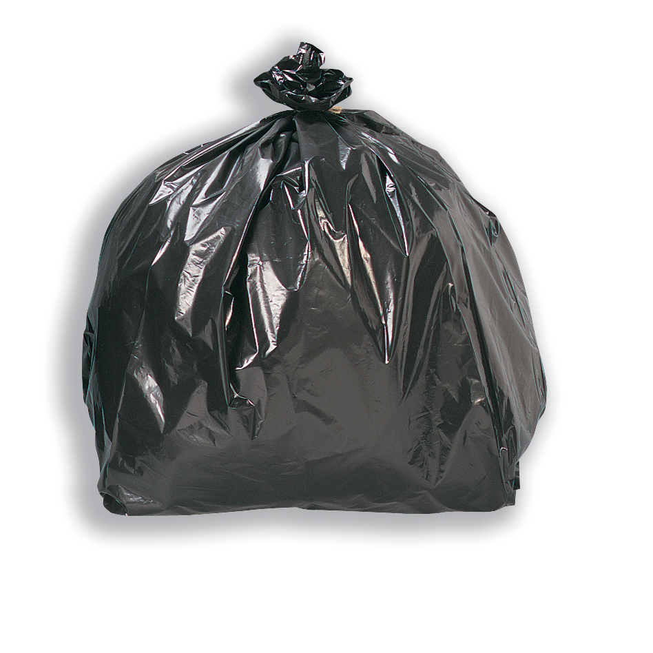 Image for 5 Star Facilities Bin Liners Light/Medium Duty 95 Litre Capacity W465/720xH960mm Black [Pack 200]