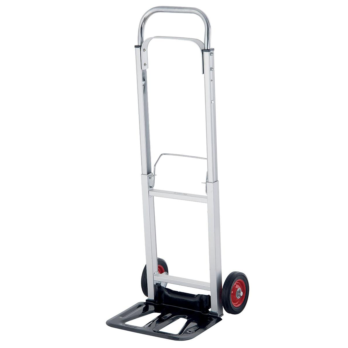 Platform Trucks Hand Trolley Telescopic Handle Lightweight Capacity 90kg Foot Size W355xL235mm