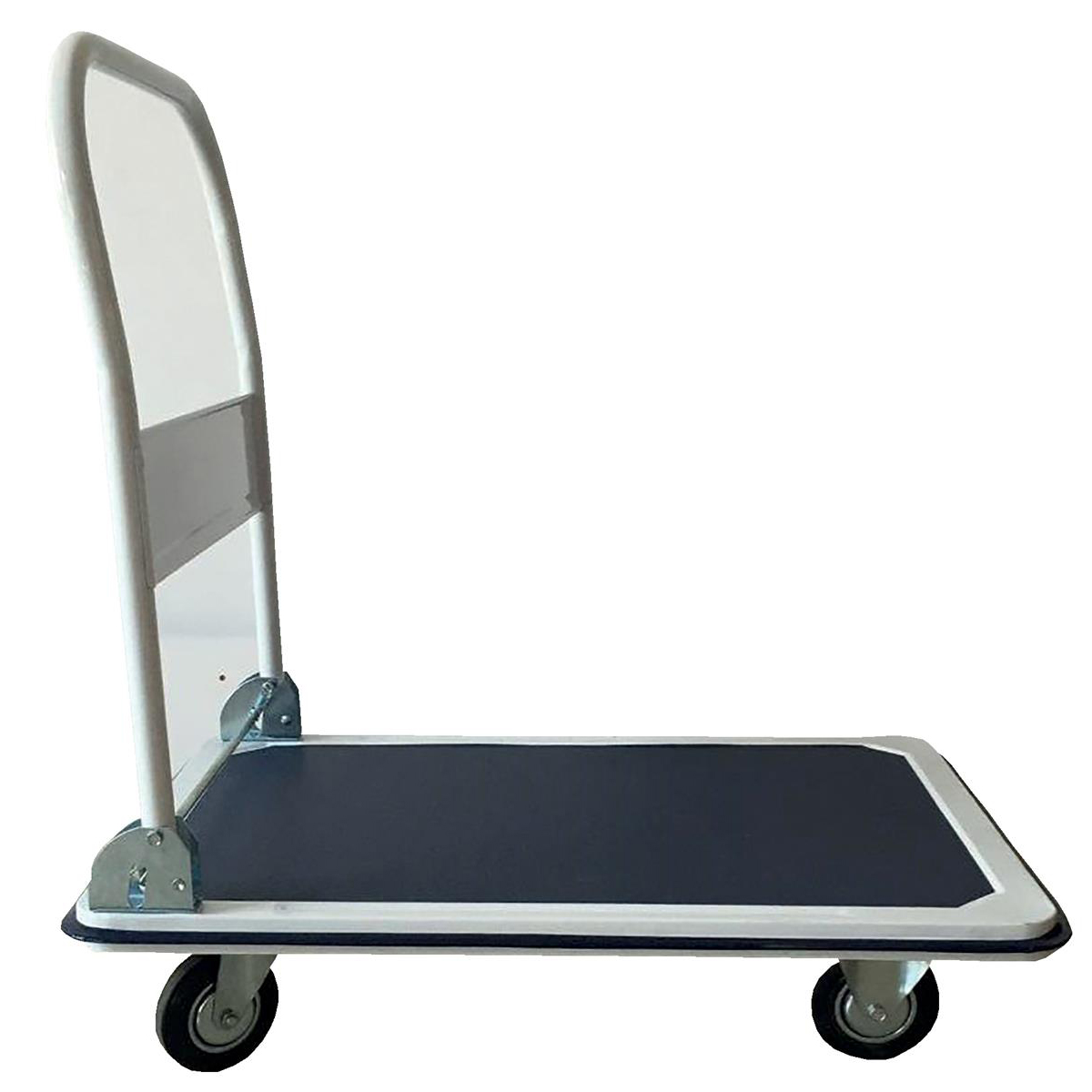 5 Star Facilities Platform Truck Medium-duty Capacity 300kg Baseboard W900xD600mm Blue and Grey