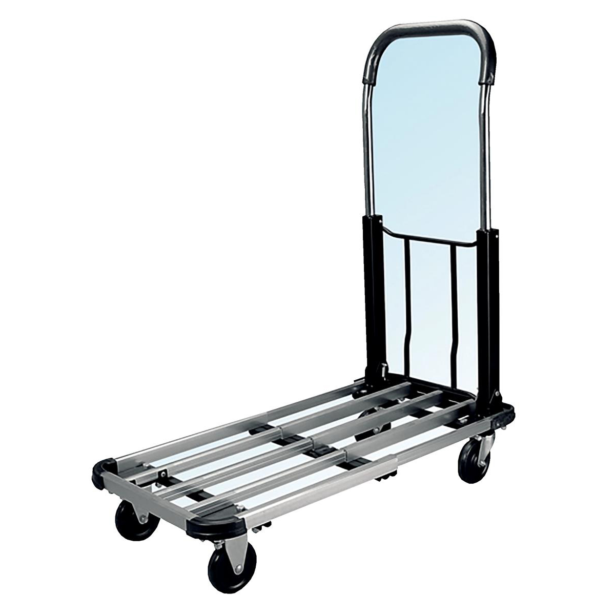 5 Star Facilities Platform Truck Lightweight Aluminium Adjustable Capacity 100kg W400xL500-720mm