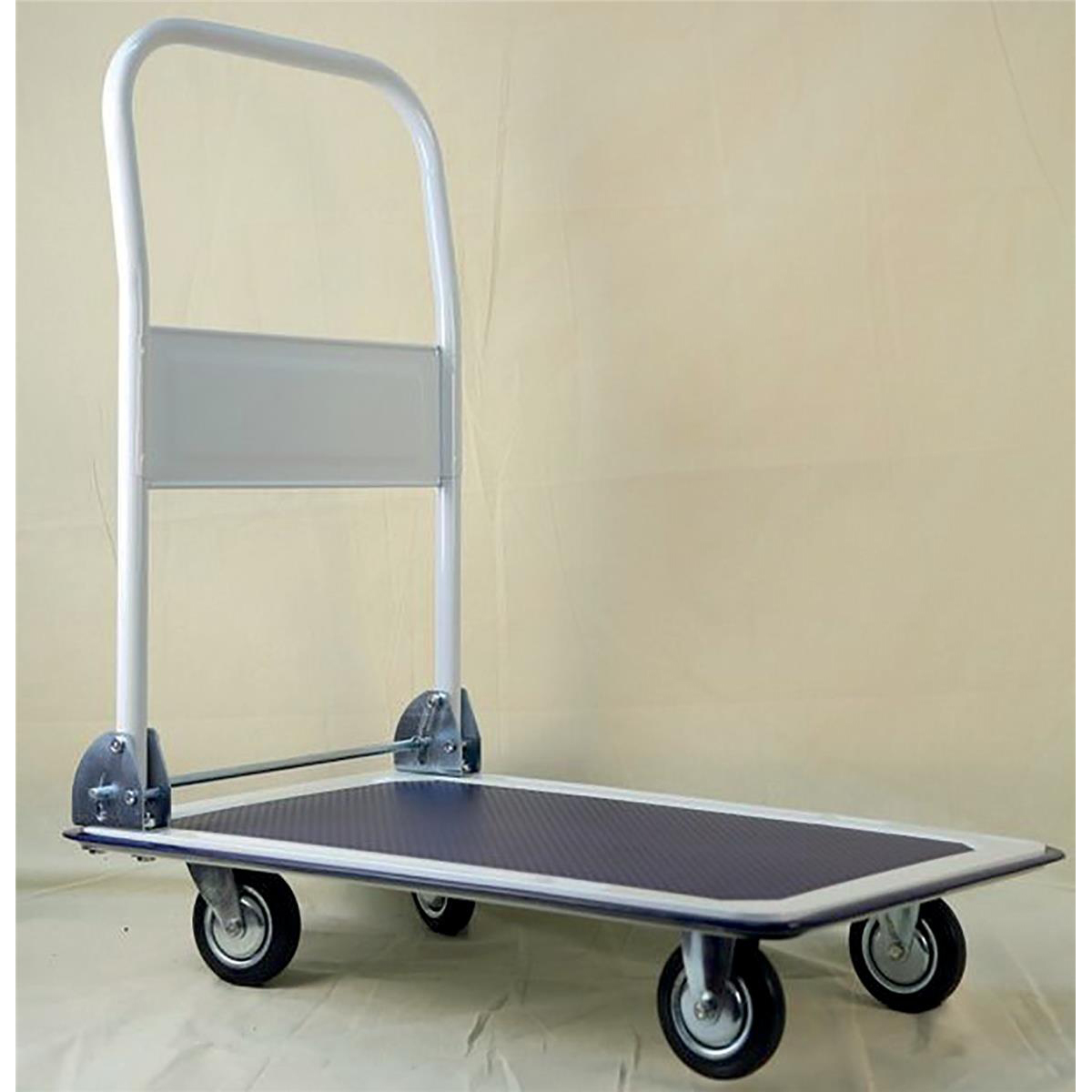 Platform Trucks 5 Star Facilities Platform Truck Standard-duty Capacity 150kg Baseboard W725xD470mm Blue and Grey