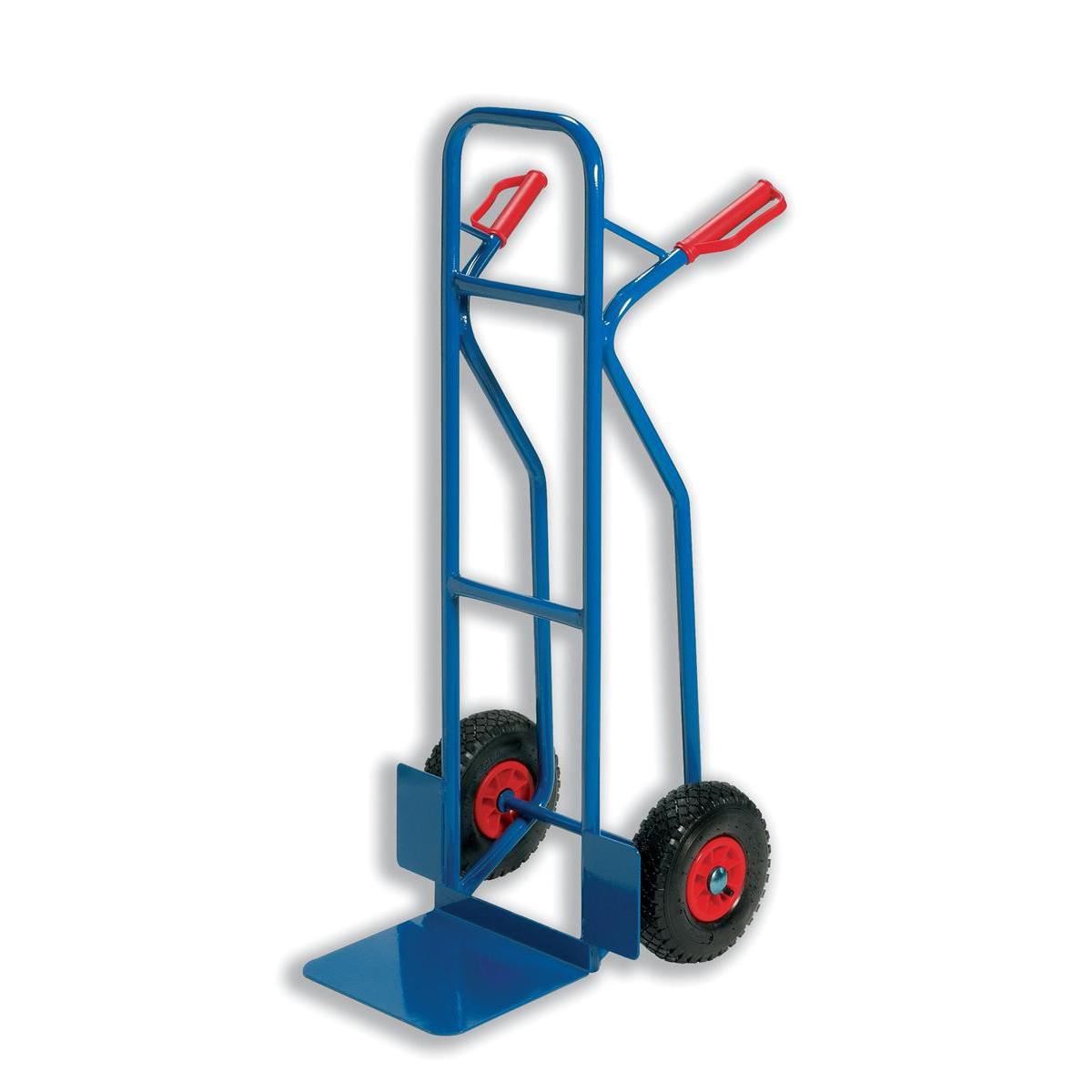 Sack Trucks Warehouse Hand Trolley Capacity 180kg Foot Size W495xL510mm Blue