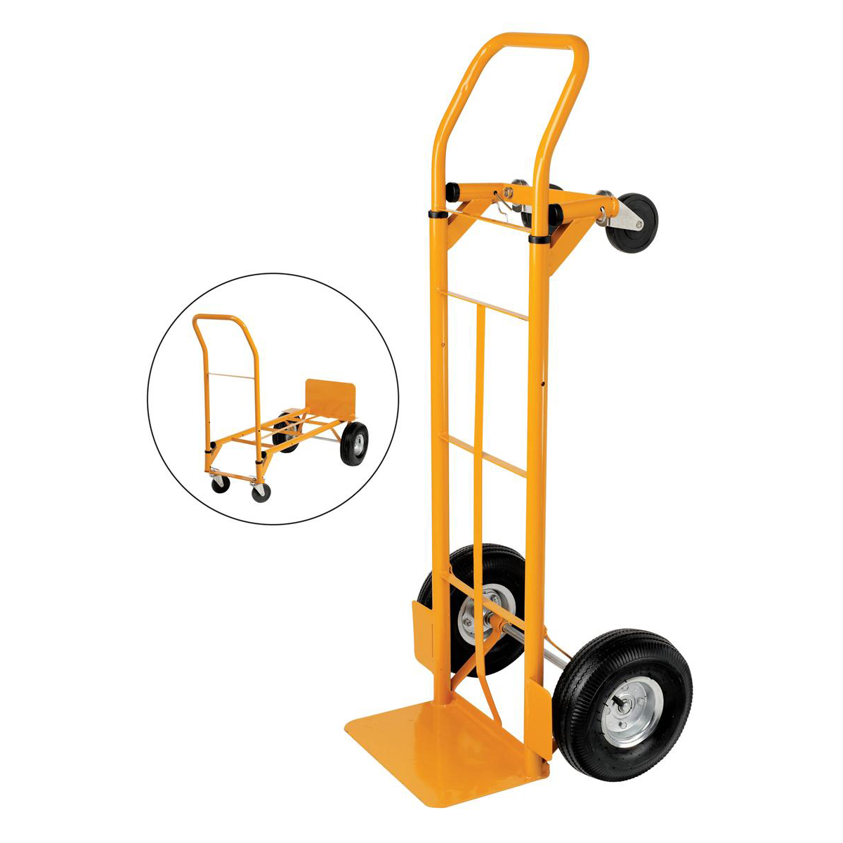 Trolleys 5 Star Facilities Universal Hand Trolley and Platform Truck Capacity 250kg Foot Size W550xL460mm Yellow