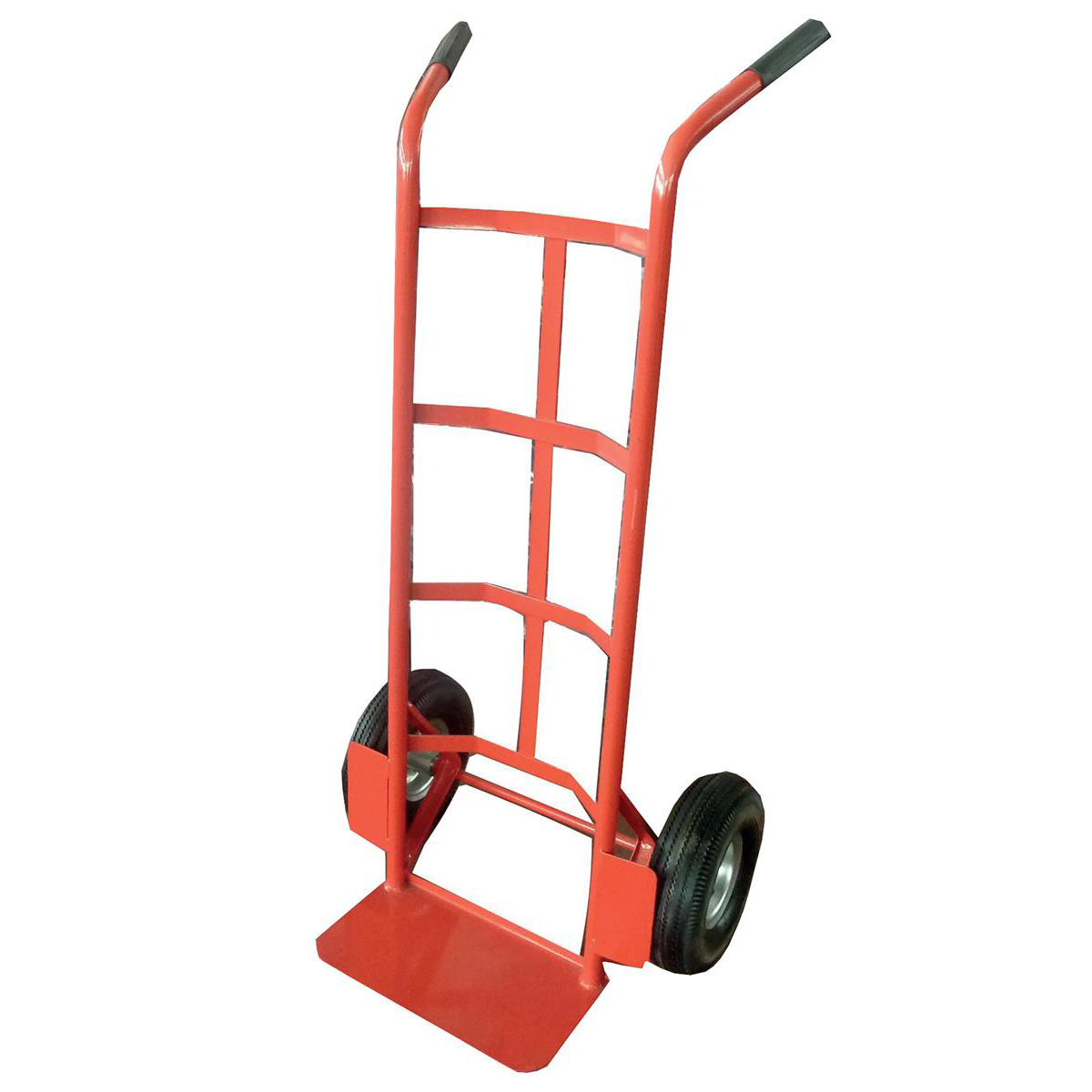 Trolleys Hand Trolley Heavy-duty Capacity 200kg Wheel 255mm Foot Size W350xL200mm Red