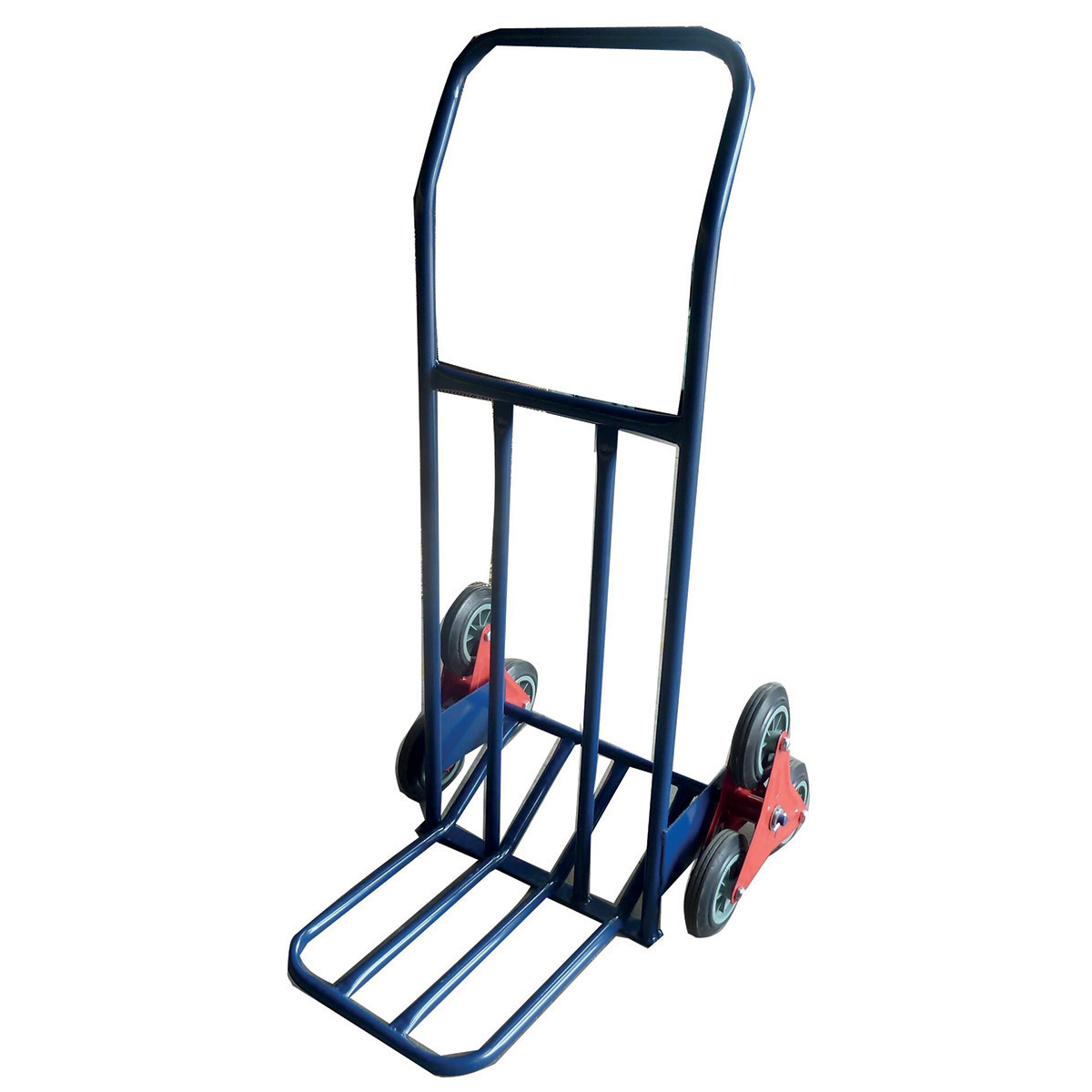 Hand trucks or accessories RelX Stair Climbing Sack Truck 6 Wheels Capacity 75kg W615xD745xH1160mm Blue Ref HT1312A