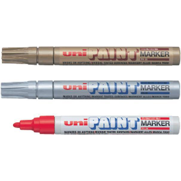 Uni Paint Marker Bullet Tip Medium Point Px20 Line Width 1.8-2.2mm White Ref 545491000 [Pack 12]