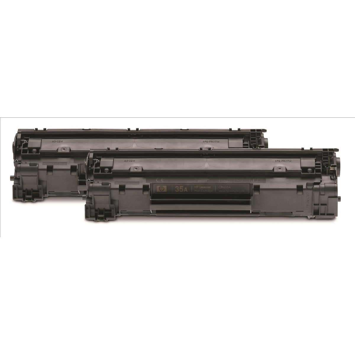 HP 35A Laser Toner Cartridge Page Life 1500pp Black Ref CB435AD [Pack 2]
