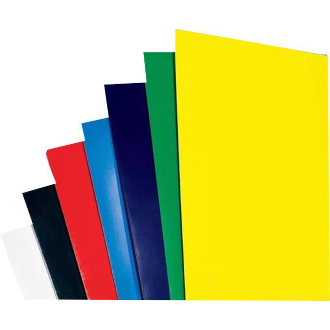 GBC Binding Covers Plain 250gsm A4 Gloss White Ref CE020071 [Pack 50x2]