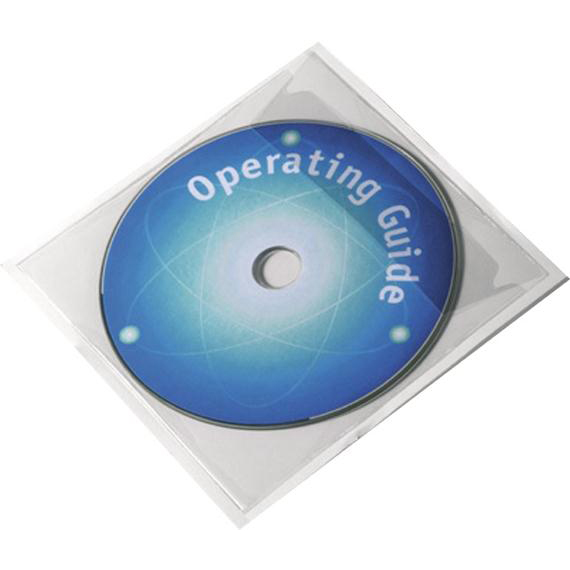 Durable POCKETFIX CD/DVD Self Adhesive Pocket with Flap Ref 8280 Pack 100