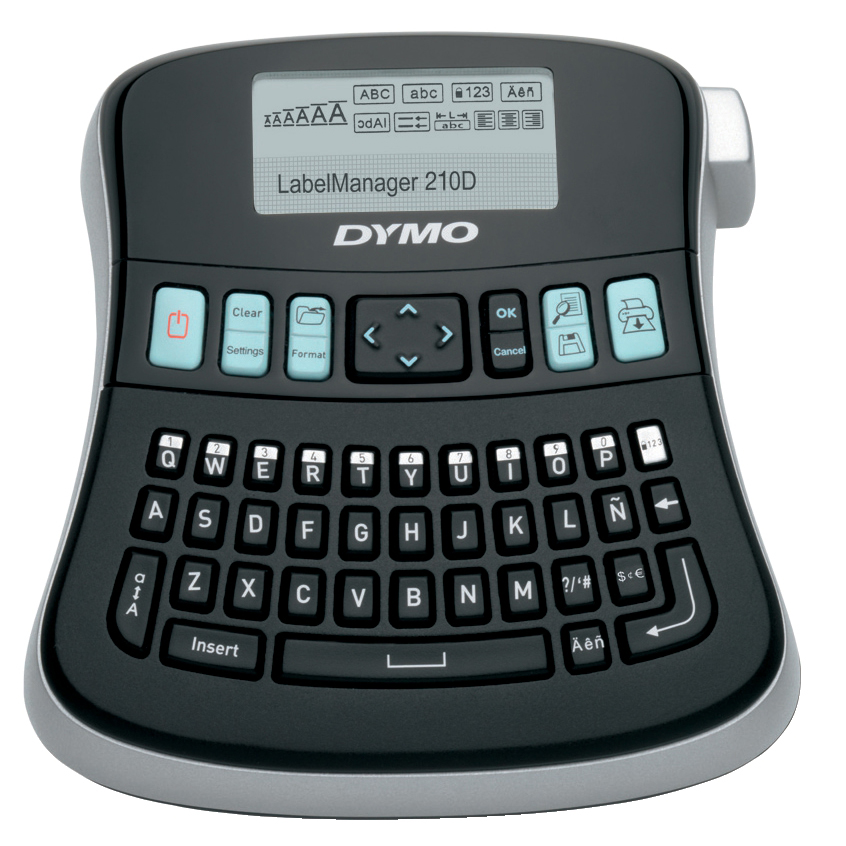 Labelling Machines Dymo LabelManager 210D Desktop Label Maker Multi-language QWERTY D1 Ref S0784440