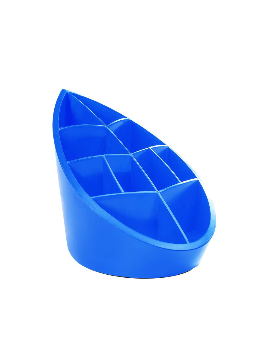 Image for Avery DTR Eco Pen Pot 10 Compartments Leaf Design W100xD180xH119mm Blue Ref DR450BLUE