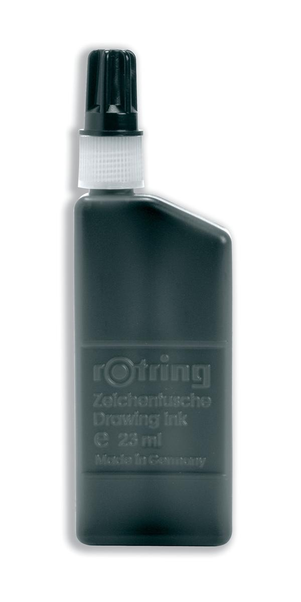 Image for Rotring Drawing Ink for Isograph Pens 23ml Bottle Black Ref S0194660