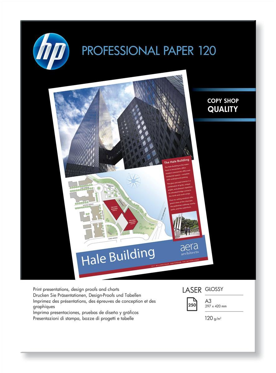 Hewlett Packard [HP] Professional Laser Paper Gloss A3 Ref CG969A [250 Sheets]