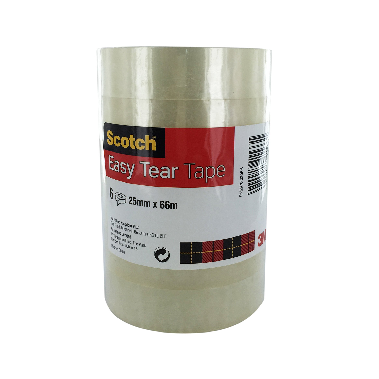 Transparent tape Scotch 508 Clear Tape 25mmx66m Clear Ref 7000088871 Pack 6