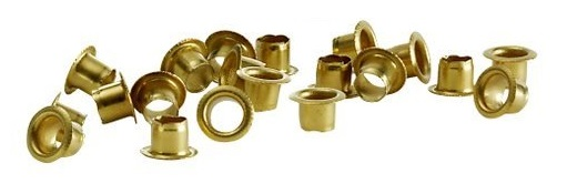Image for Rexel Eyeletts Copper-plated Size 2 4.7x4.2mm Ref 20320051 [Pack 500]
