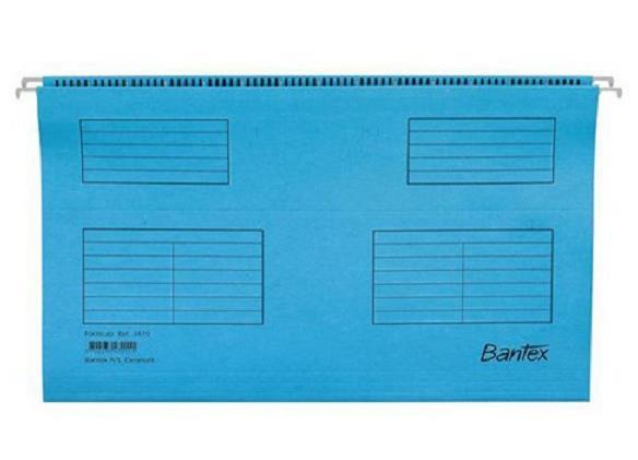 Image for Bantex Flex Suspension File Kraft V-Base 15mm Square 30mm A4 Blue Ref 100331432