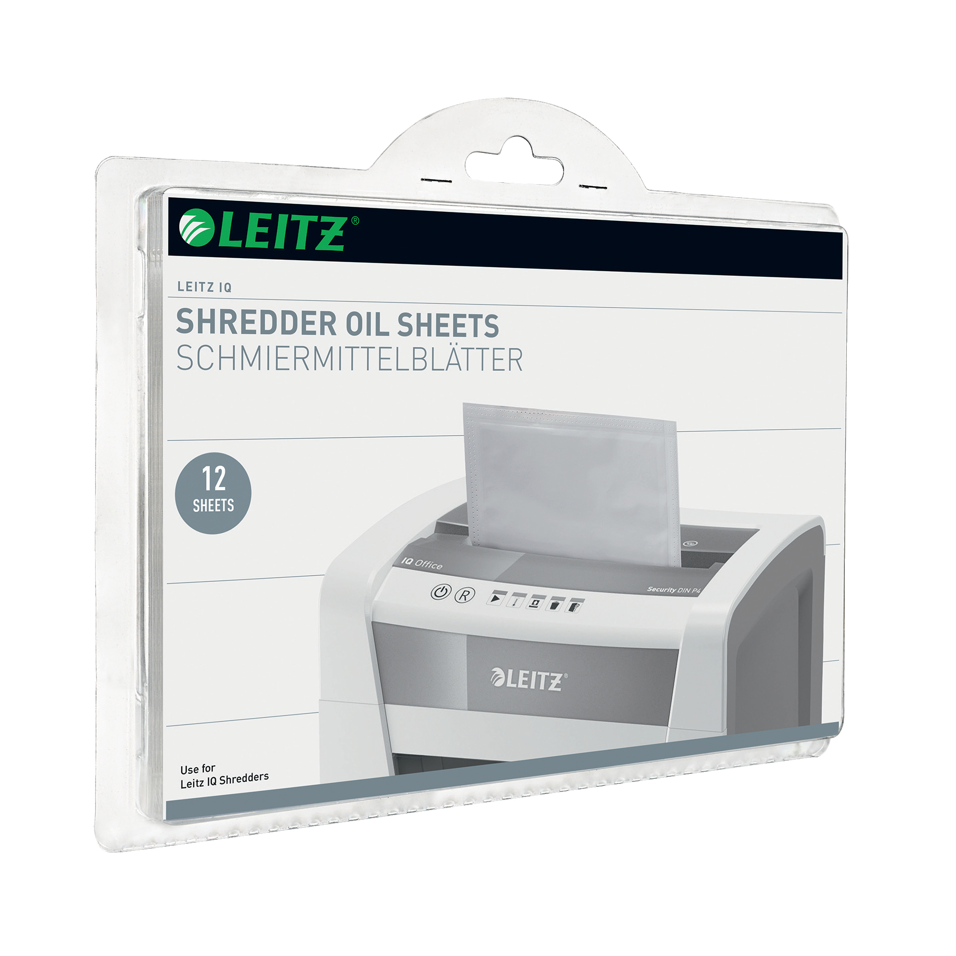 Leitz Oil Sheets for IQ Shredder Ref 80070000 [Pack 12]