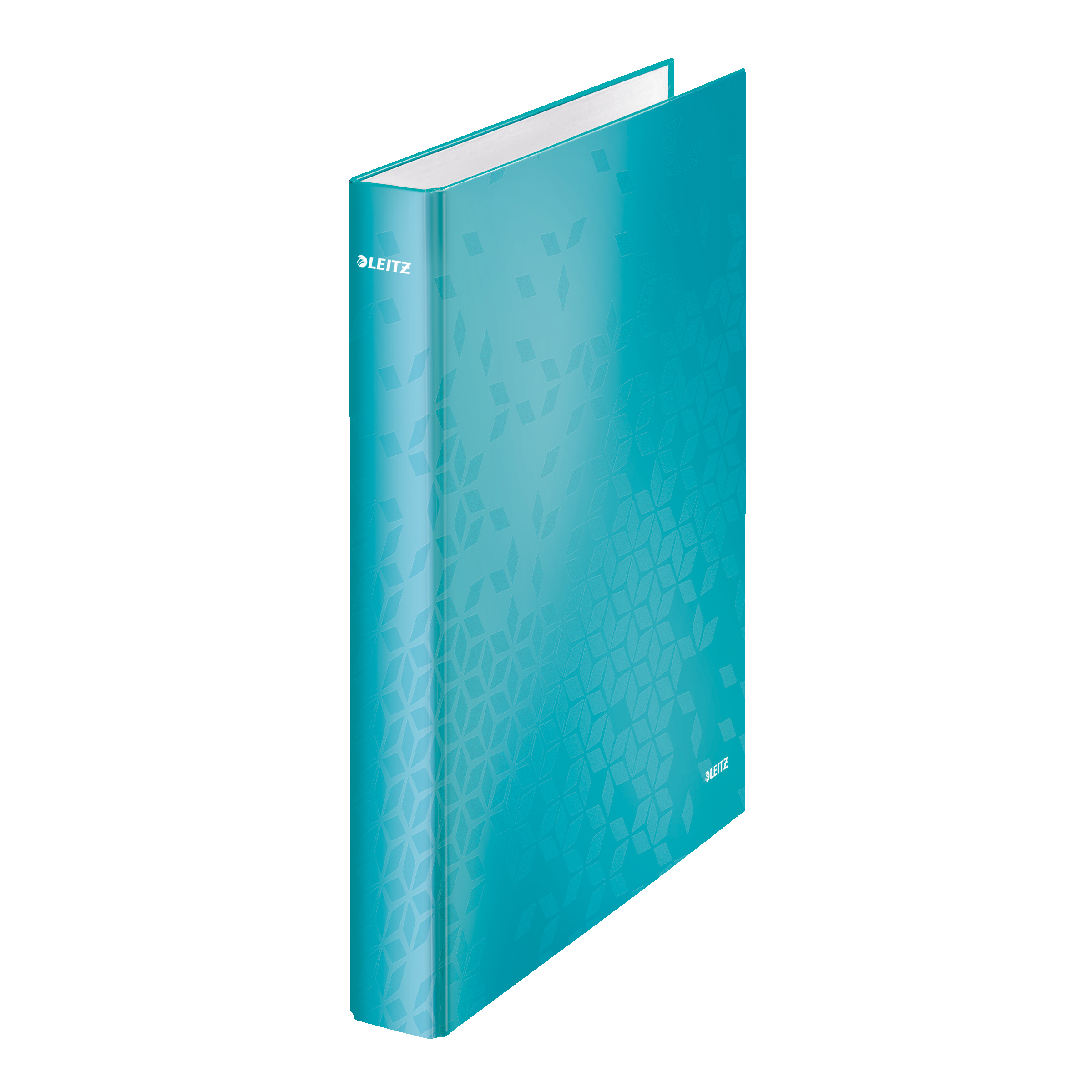 Leitz FSC WOW Ring Binder 2 D-Ring 25mm Size A4 Ice Blue Ref 42410051 [Pack 10]