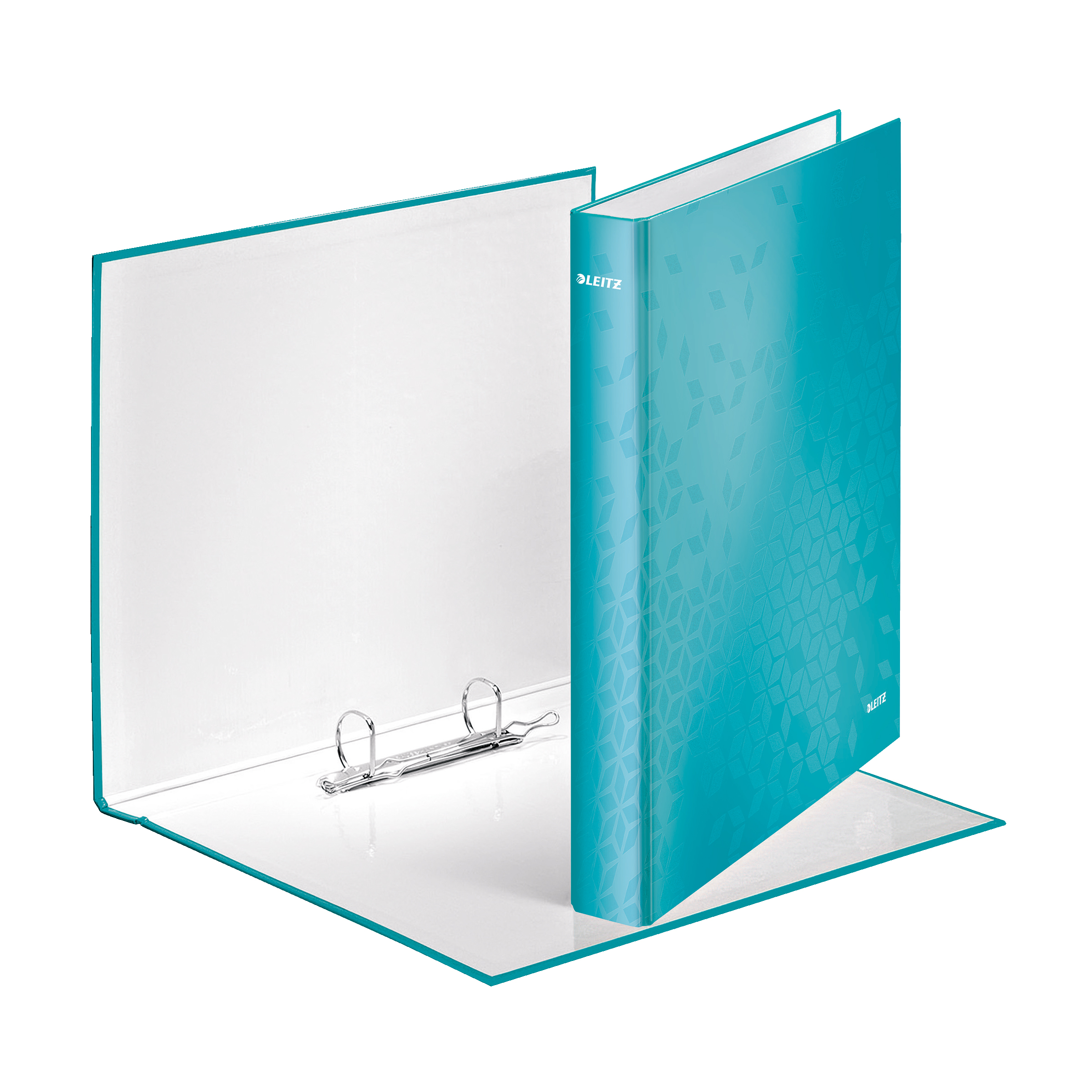 Leitz WOW Ring Binder 2 D-Ring 25mm A4 Ice Blue Ref 42410051 Pack 10