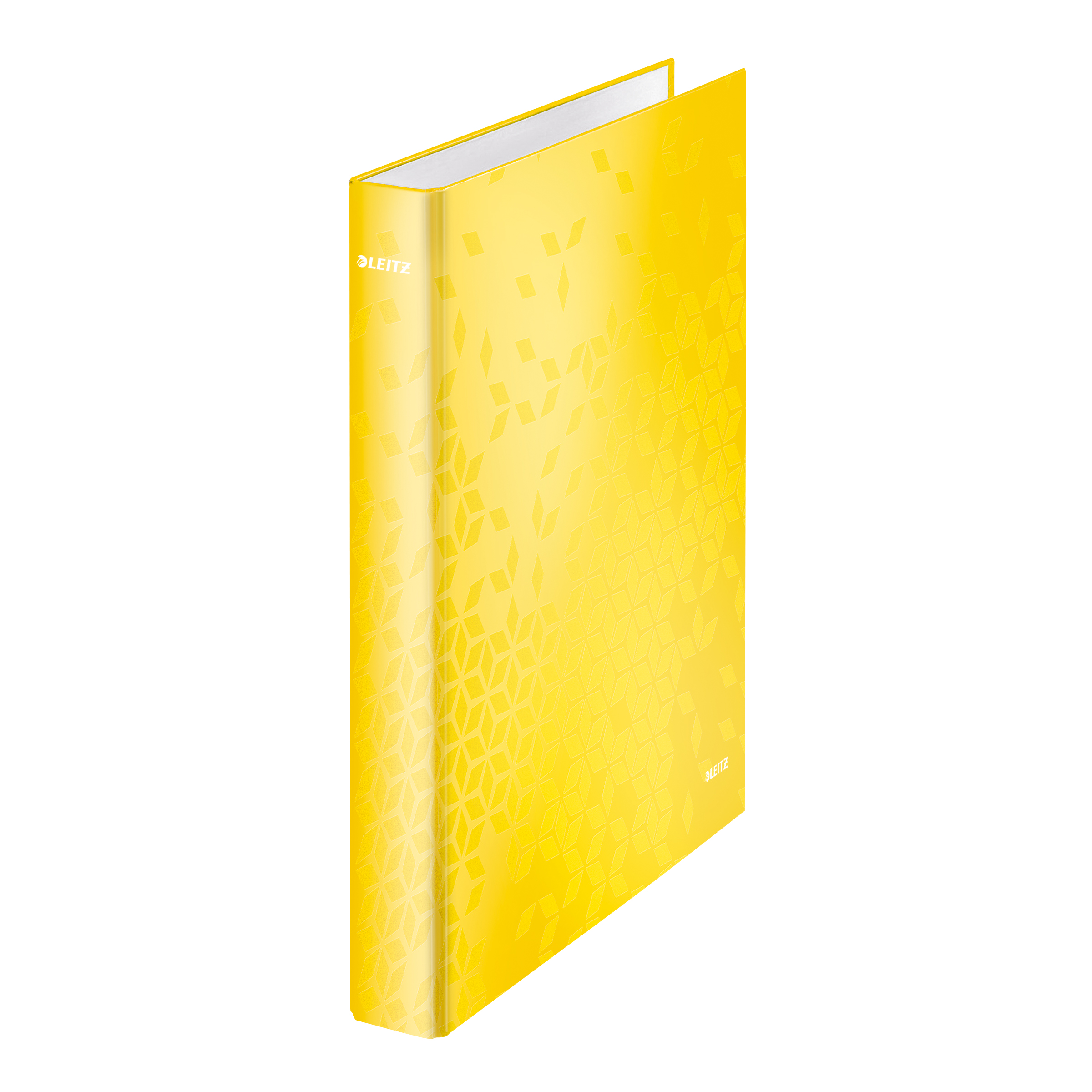 Leitz FSC WOW Ring Binder 2 D-Ring 25mm Size A4 Yellow Ref 42410016 [Pack 10]