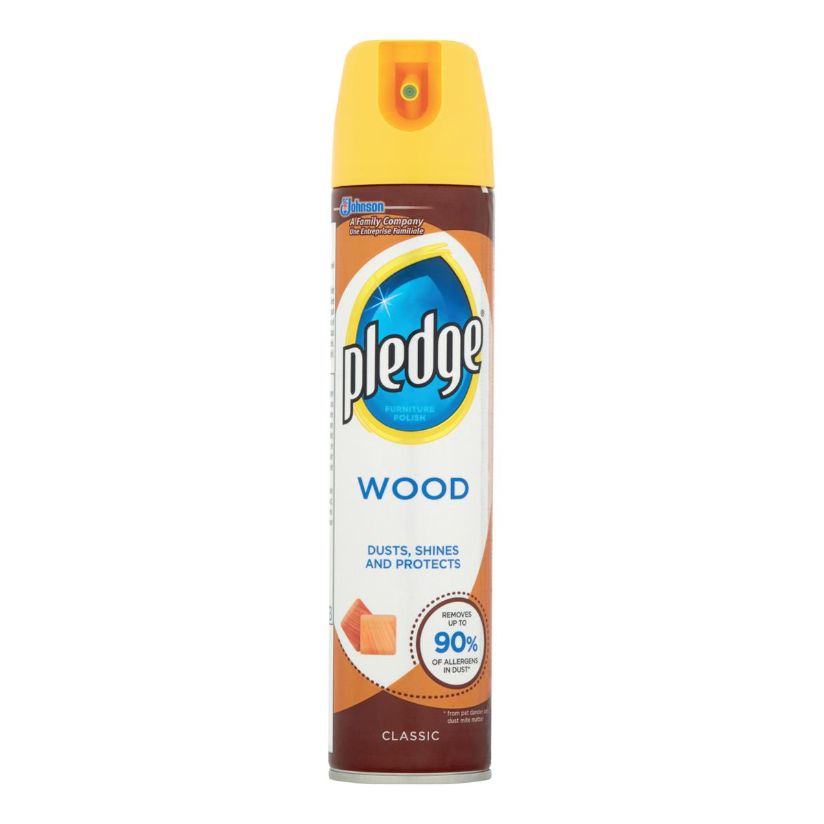 Pledge Wood 5 in 1 Classic Furniture Polish Aerosol Spray 300ml Ref 97974