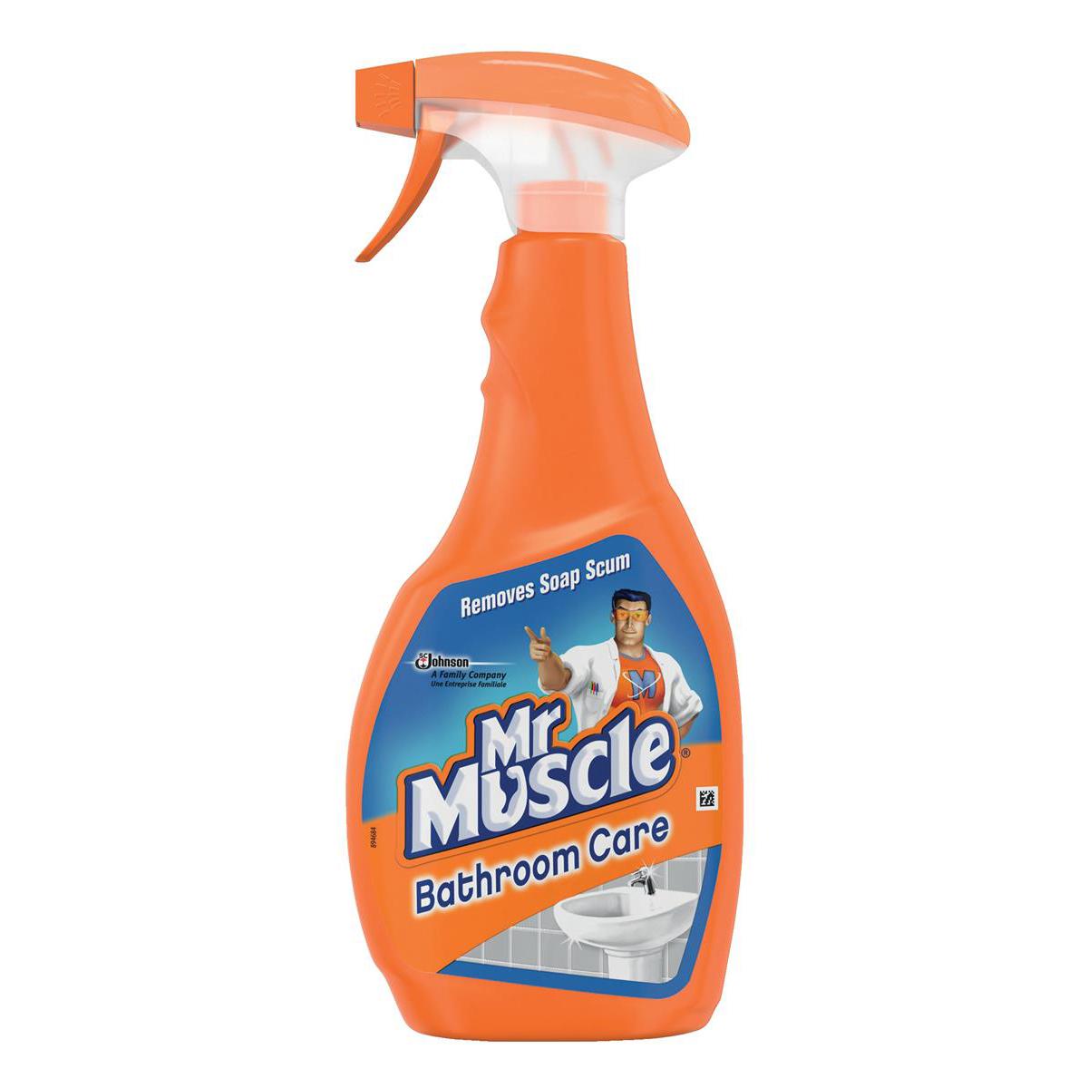 Mr Muscle Bathroom Cleaner Spray Bottle 5 in 1 500ml Ref 1005055
