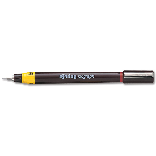 Rotring Isograph for Pen Precise Line Width to ISO 128 and ISO 3098/1 0.25mm Nib Ref 1903398