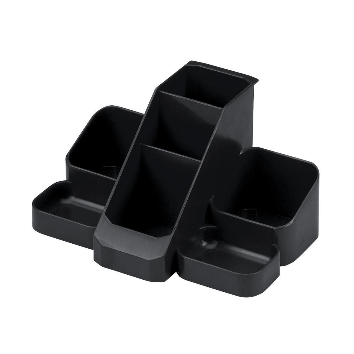 Desktop trays or organizers Avery Basics Desk Tidy 7 Compartments Black Ref 1137BLK