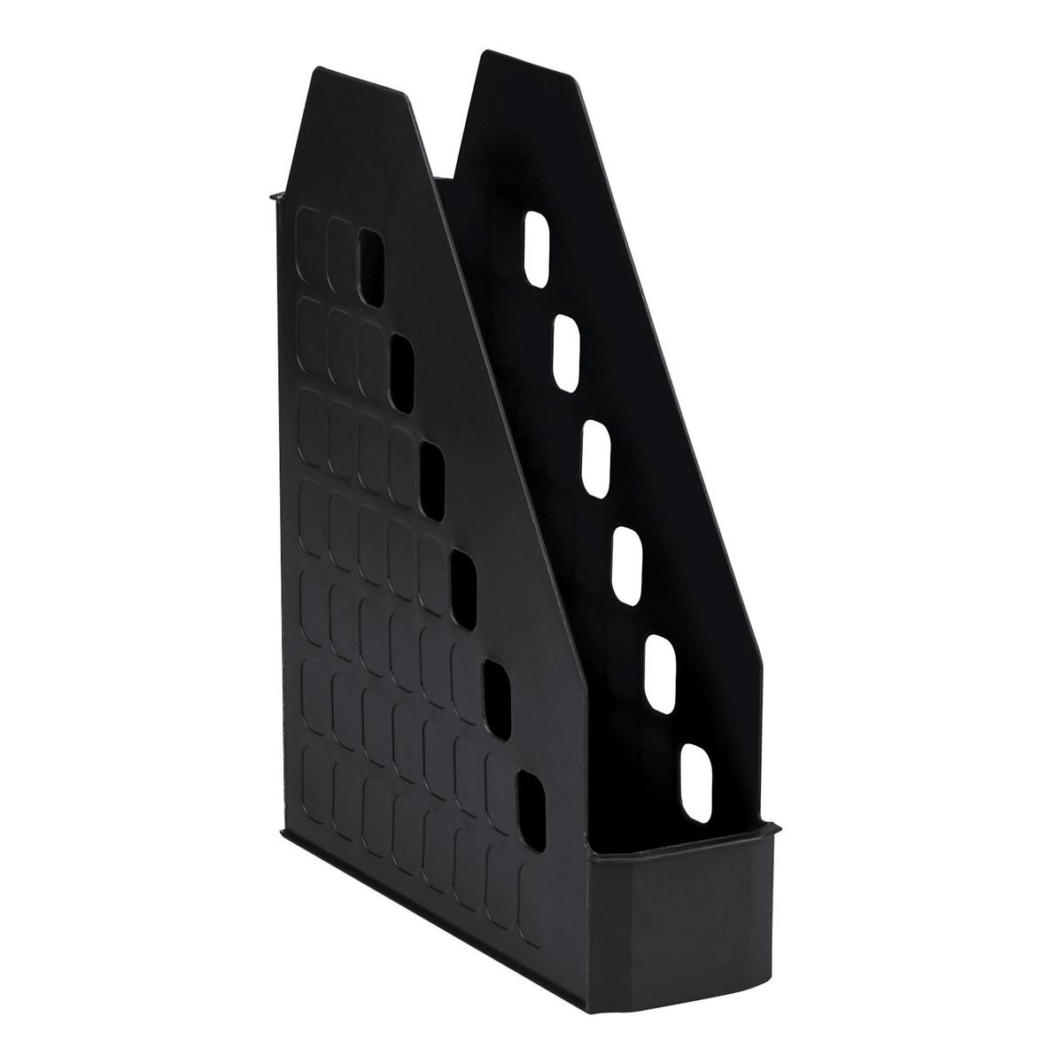 Avery Basics Magazine Rack Low Front Design W78xD246xH310mm Black Ref 1135BLK
