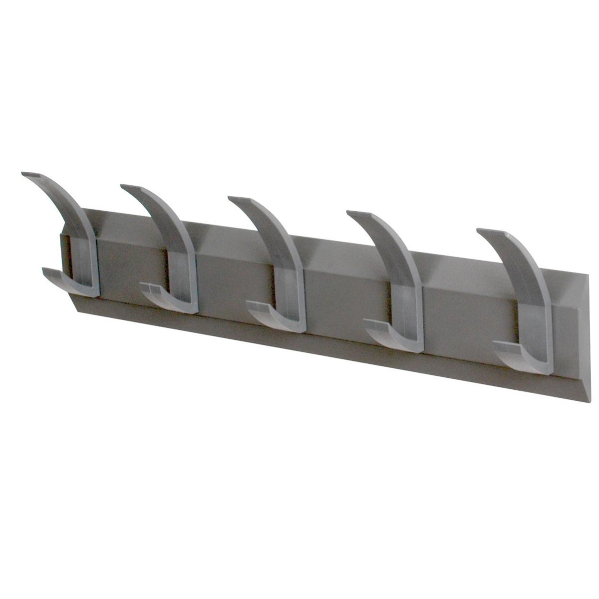 Image for Acorn Hat and Coat Wall Rack with Concealed Fixings 5 Hooks 600x50x120mm Graphite Ref 319875