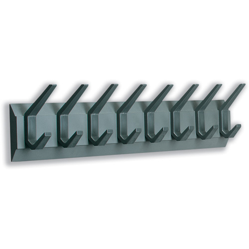 Image for Acorn Hat and Coat Wall Rack with Concealed Fixings 8 Hooks 830x50x120mm Graphite Ref 319883