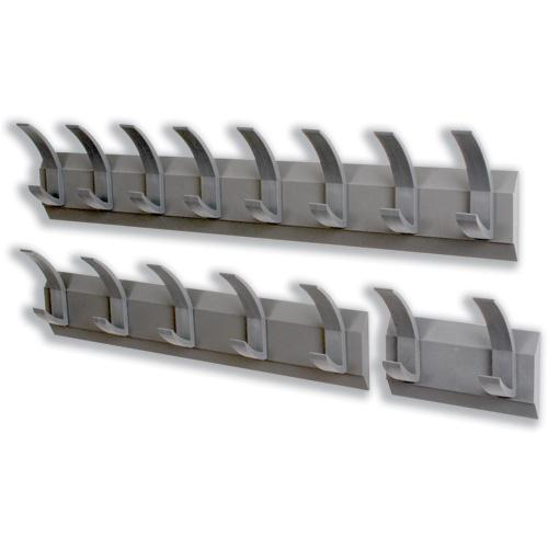 Acorn Hat and Coat Wall Rack with Concealed Fixings 8 Hooks 830x50x120mm Graphite Ref 319883