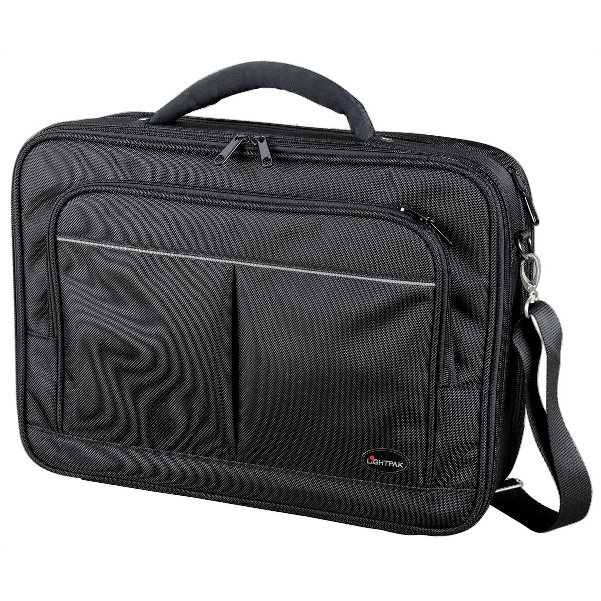 Briefcases & Luggage Lightpak Executive Laptop Bag Padded Multi-section Nylon Capacity 17in Black Ref 46029
