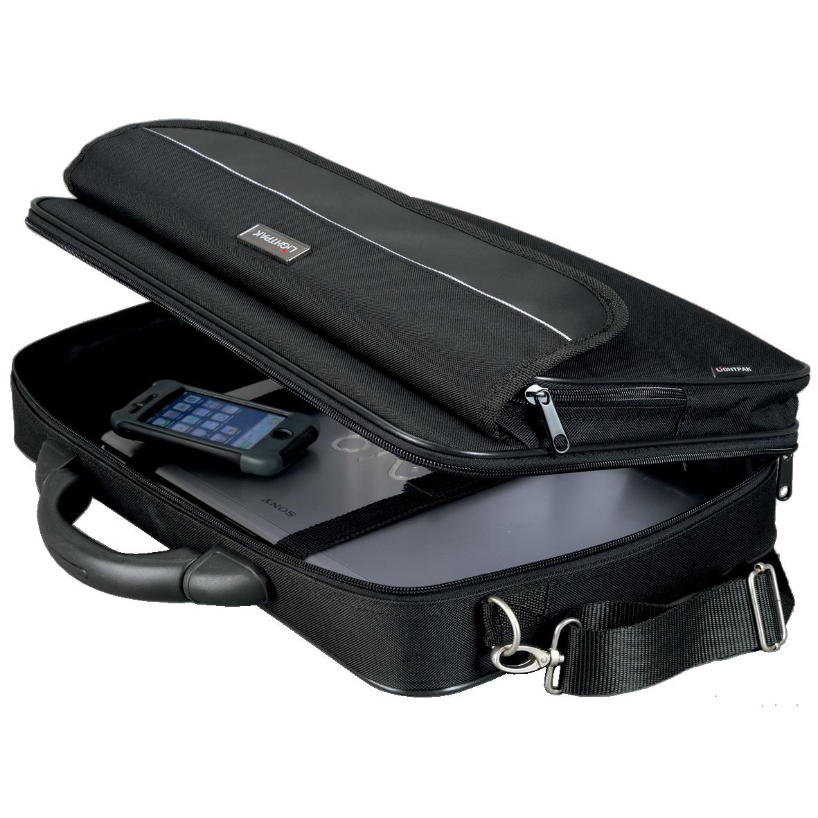 Image for Lightpak Elite Small Laptop Case Nylon Capacity 15.4in Black Ref 46110