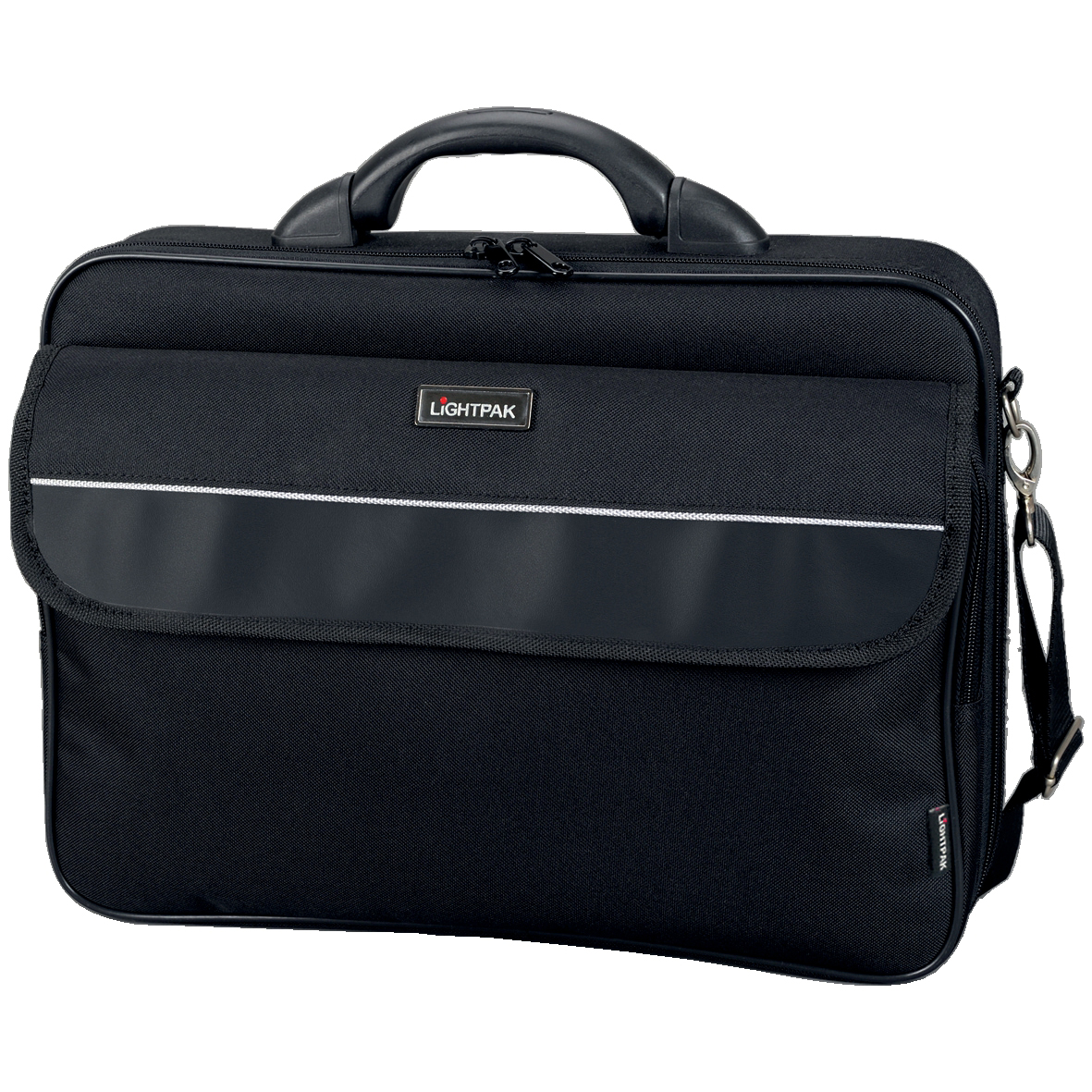 Lightpak Elite Large Laptop Case Nylon Capacity 17in Black Ref 46111