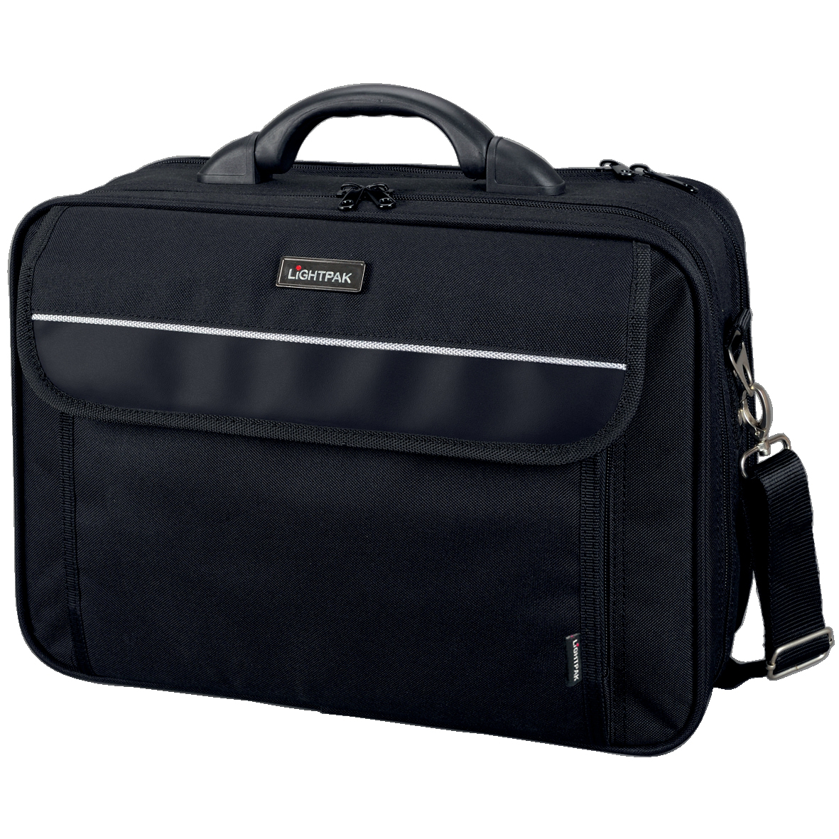 Briefcases & Luggage Lightpak Arco Laptop Bag Padded Nylon Capacity 17in Black Ref 46010