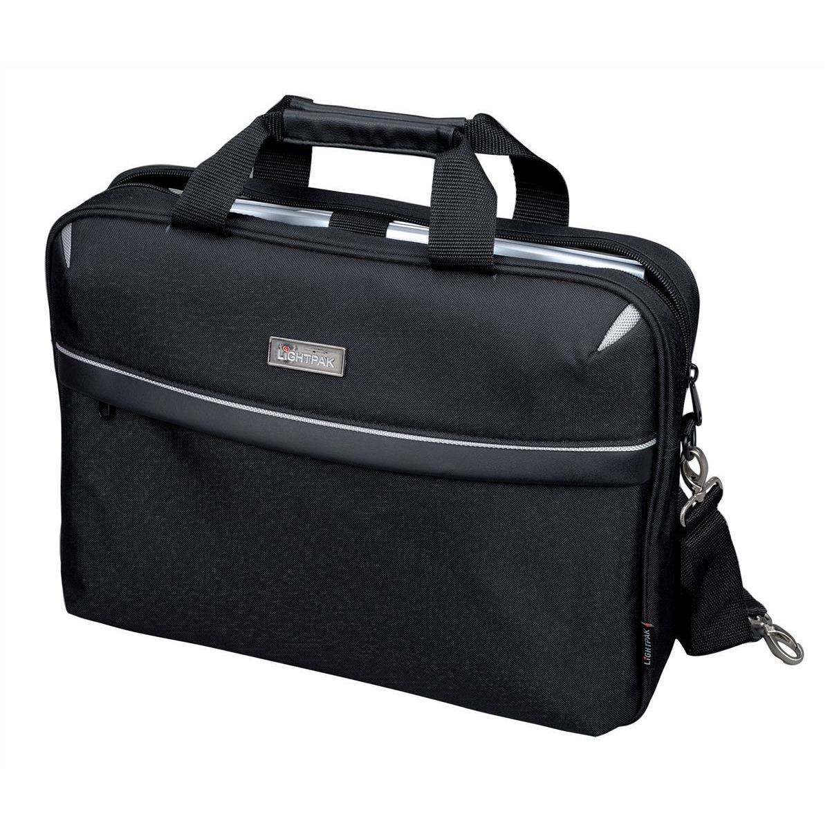 Briefcases & Luggage Lightpak Laptop Bag Top Load with 15in Laptop Compartment Nylon Black Ref 46112